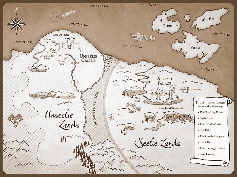 Interactive map of Faery from The Seelie Wars by Jane Yolen and Adam Stemple